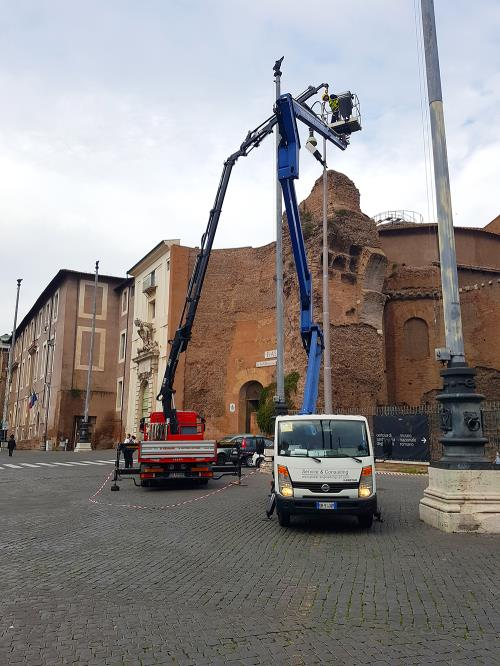 ACEA lampioni stradali Di Gennaro Roma