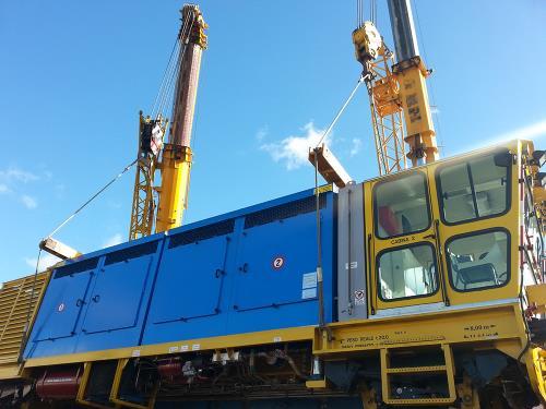 Sollevamento vagone ferroviario Di Gennaro Roma