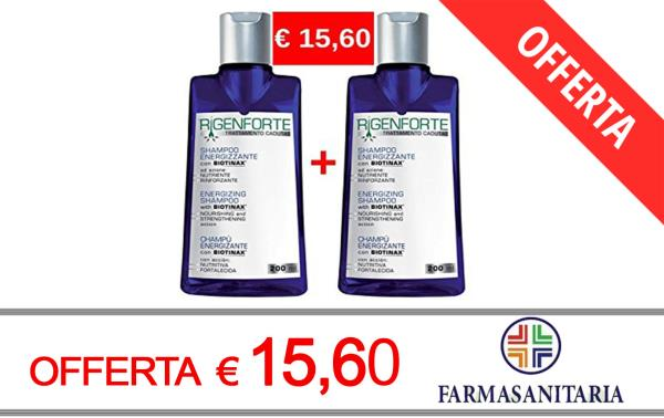 Offerta Shampoo Rigenforte Anticaduta pacco doppio