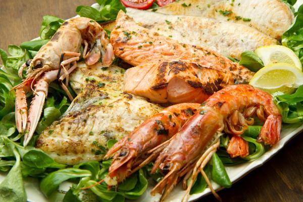 Piatto pesce misto alla griglia