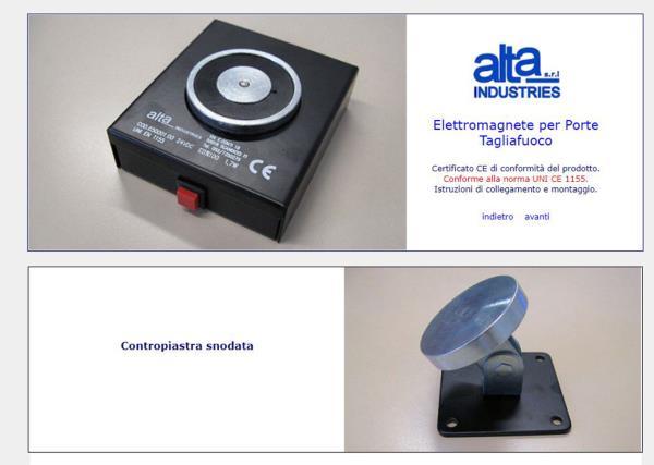 Elettromagnete per Porte Tagliafuoco Alta Industries srl a Scandicci Firenze