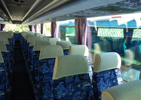 Interno Bus Setra 56 Posti Gabrielli Autonoleggio a Genga Ancona