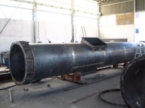 Segmento di canna fumaria in acciaio al carbonio