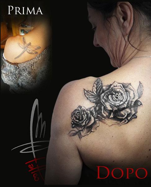 cover up tatuaggio rosa