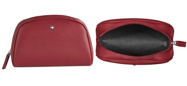 Trousse da toilette in pelle stampa Saffiano e fodera impermeabile Sartorial Collection<br>116763<br>€160