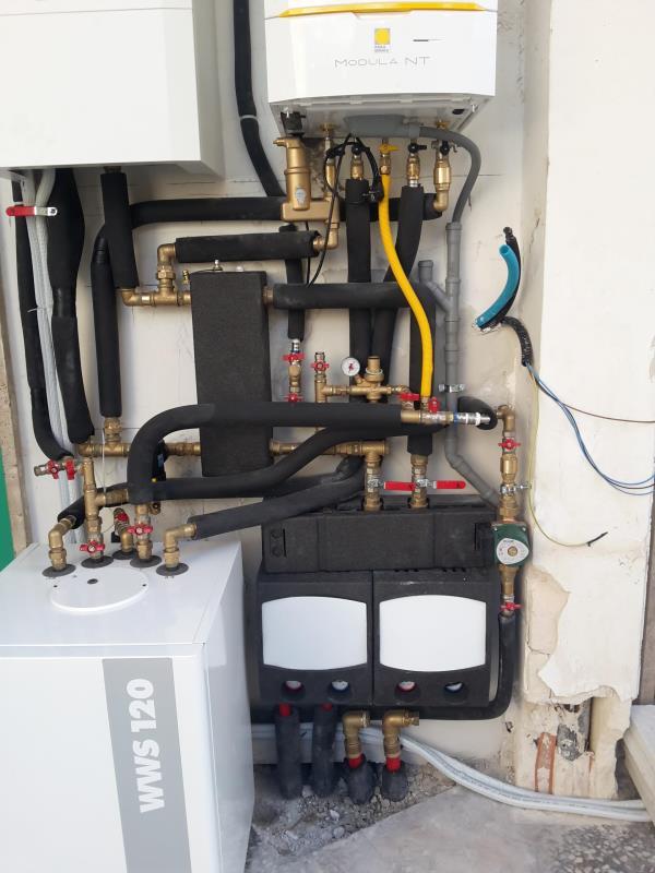 Impianto canalizzato e pompa di calore aria acqua