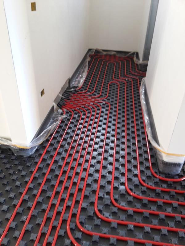 Realizzazione riscaldamento a pavimento