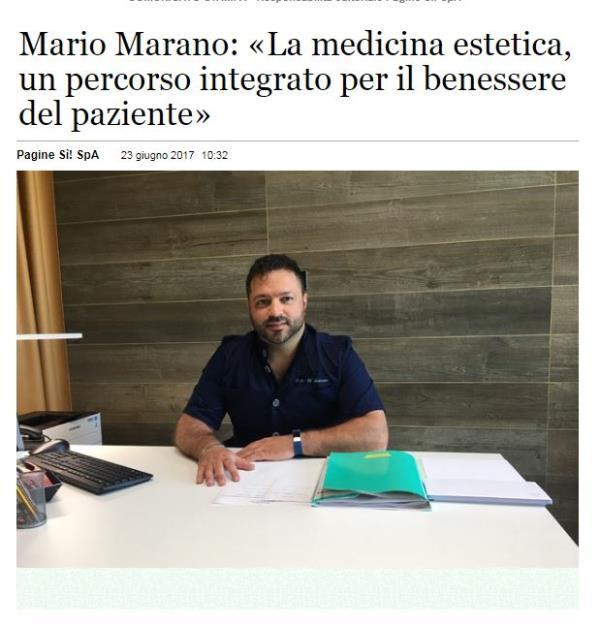 Il Dott. Marano Mario