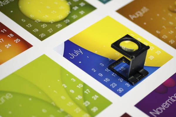 Stampa grafica calendario