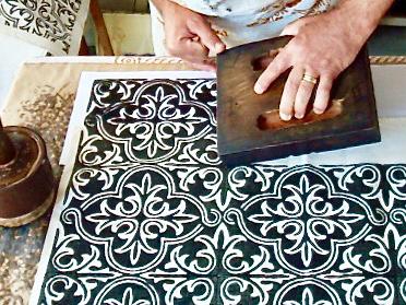 Stampa decorazione a disegno bizantino