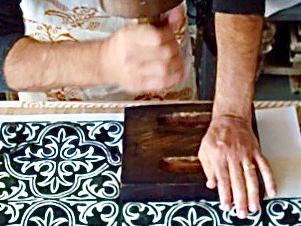 Tecnica di stampa  tessuti a mano