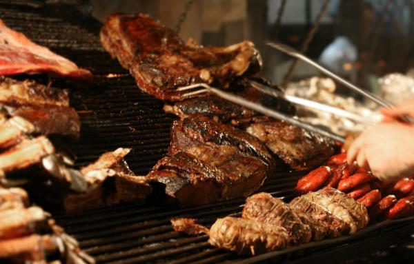 Menu con specialità carne grigliata