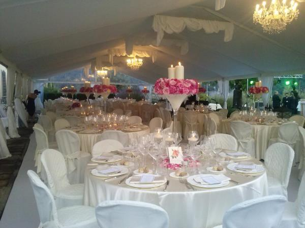 Allestimento floreale tavolo