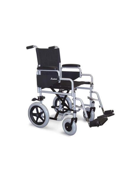 Carrozzina sedia a rotelle da transito pieghevole