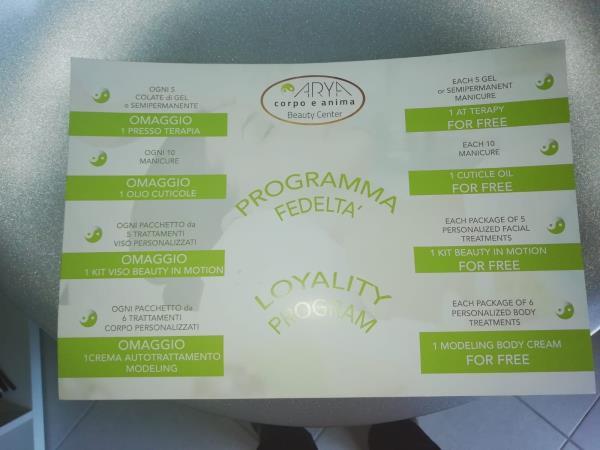 Programma fedeltà centro estetico