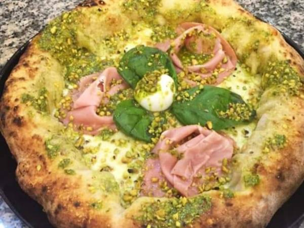 Pizza prosciutto cotto e mozzarella