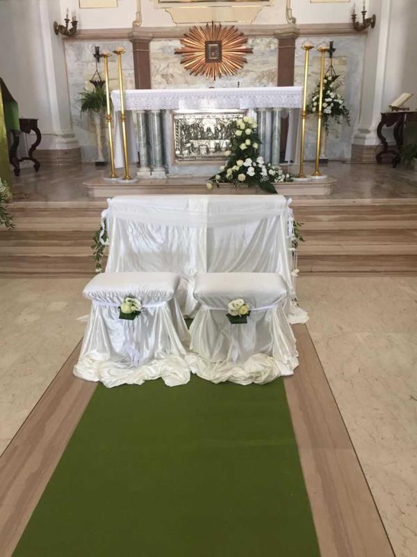 Creazioni floreali matrimonio chiesa