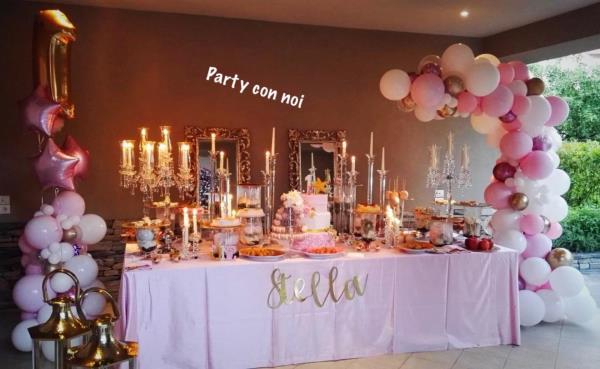 Allestimento location festa di compleanno