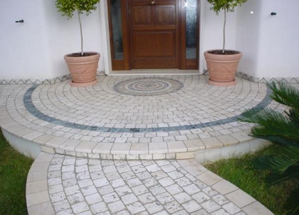 Ingresso abitazione pietra lavorazioni in marmo Manduria Taranto
