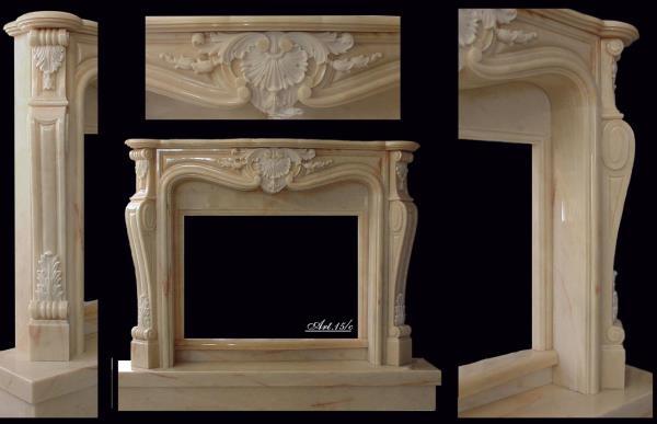 Componenti per rivestimento in marmo per camino Pietrasanta Lucca