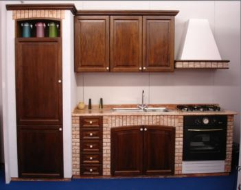 Cucine in muratura pietra e legno