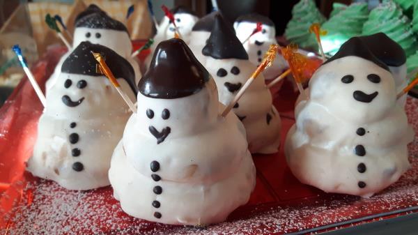Vendita dolci natalizi a Gubbio