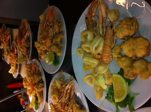 pesce fresco ristorante pizzeria Alla Tappa a Muggia