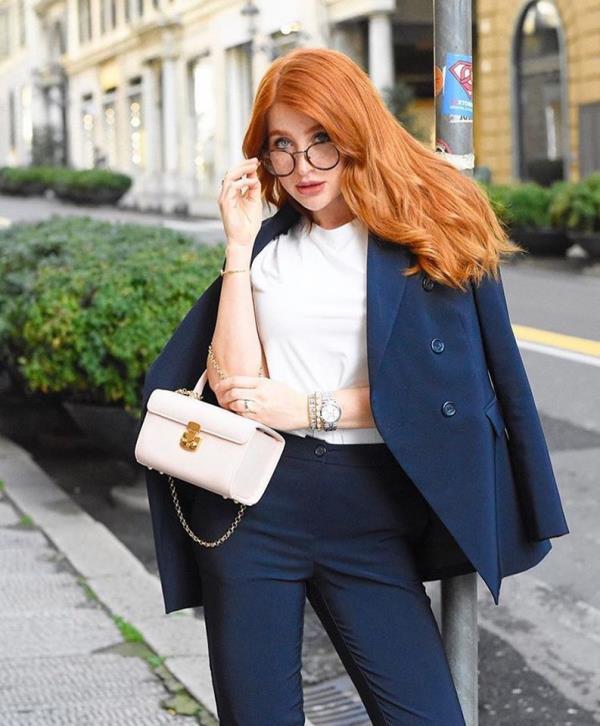 Tailleur pantalone blu