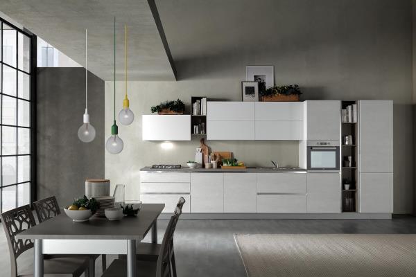 cucina moderna delizia rovere ghiaccio