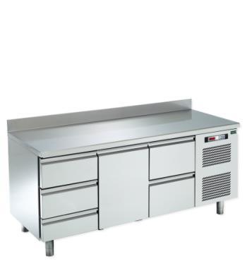 Banco tavolo HIBER refrigerato TN -2°C / + 8°C