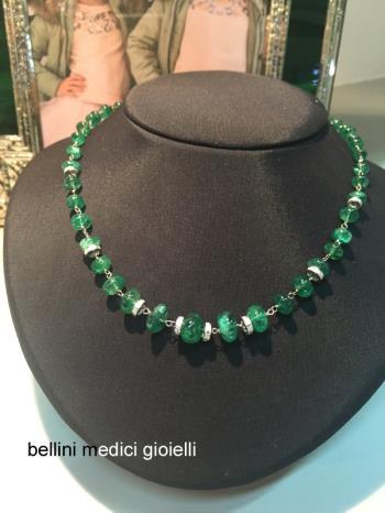 Collana con smeraldi naturali