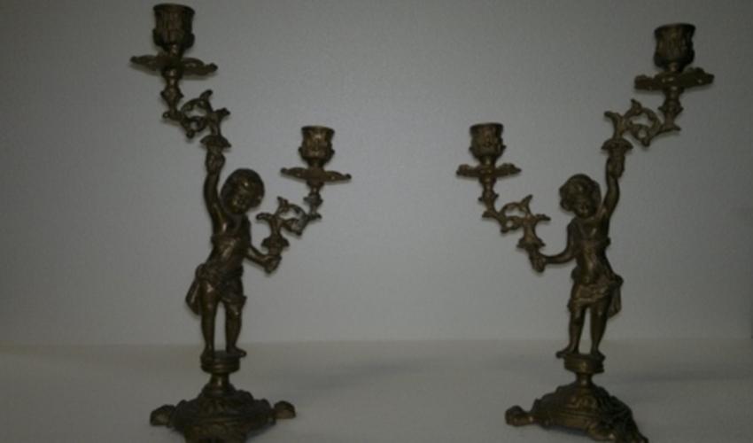 candelabro bronzo