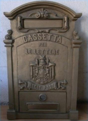 cassetta lettere bronzo