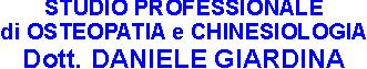 STUDIO PROFESSIONALE DOTT. DANIELE GIARDINA