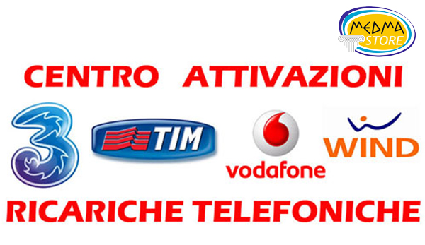 ricariche telefoniche e attivazioni SIM