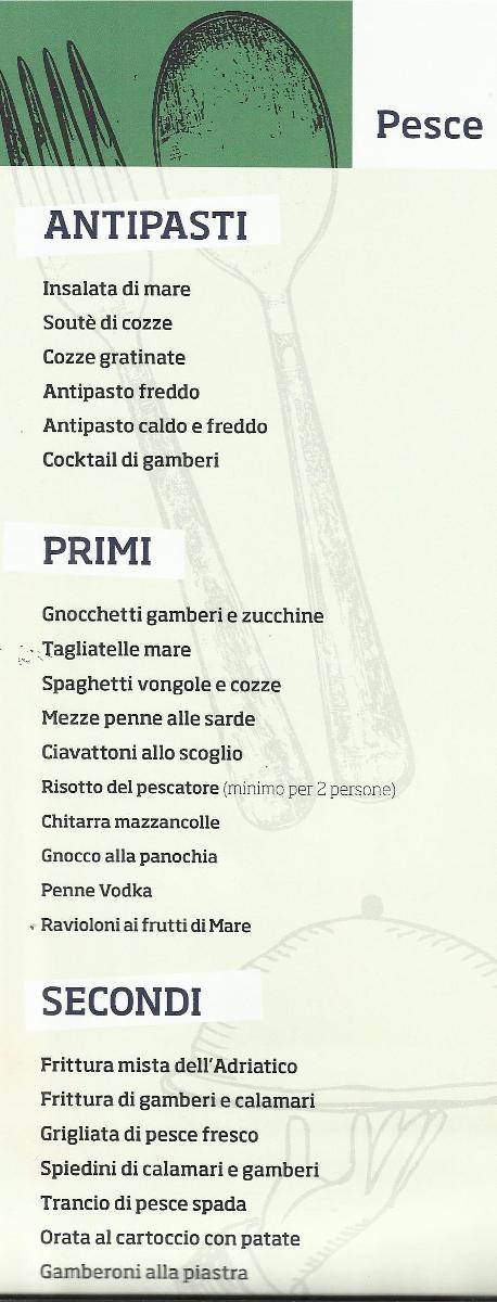 Il Menu Ristorante Pizzeria Da Cristia' a Collemarino Ancona