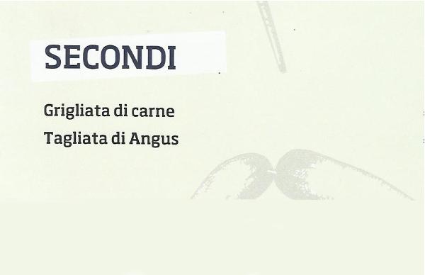 Menu Secondi Piatti Ristorante Pizzeria Da Cristia' a Collemarino Ancona