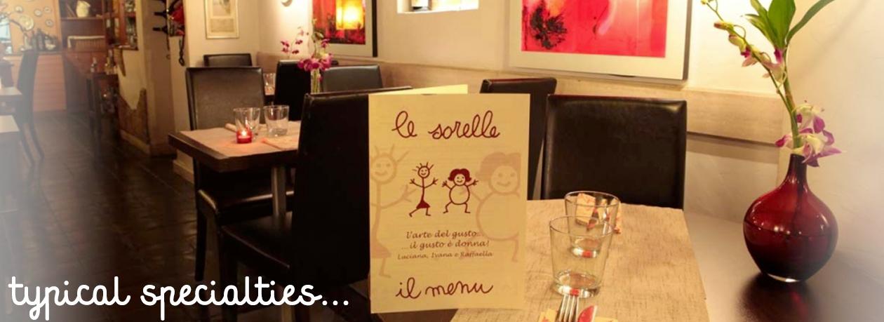 Ristorante Le Sorelle Roman speciality food Rome centre