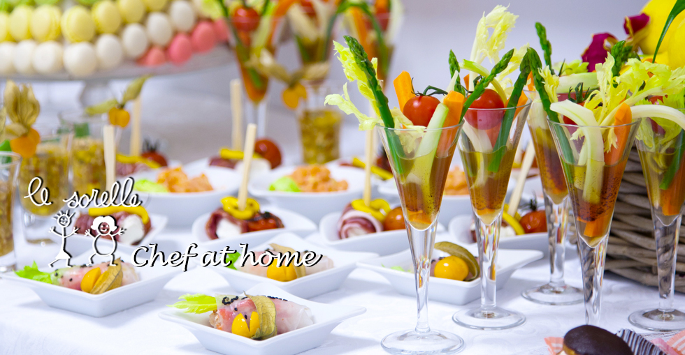 Business Buffets, Lunches and Dinners with private chef Ristorante Le Sorelle Rome