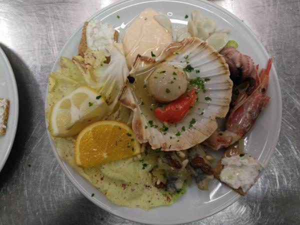 ristorante con menu di pesce Treviso
