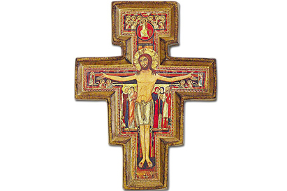 crosses and sacred images soprani Rome