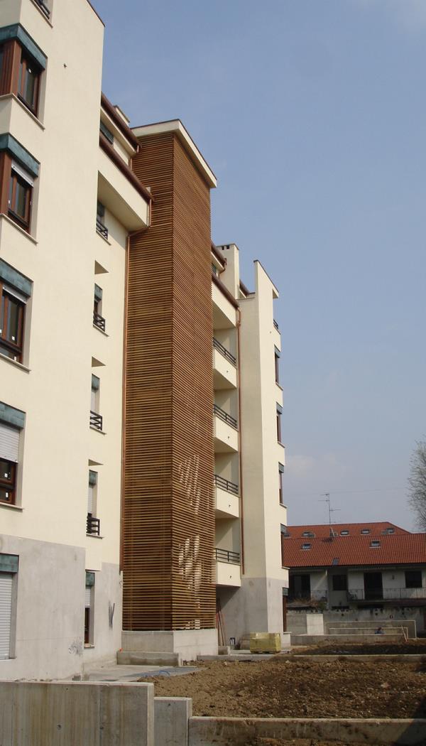 rivestimento legno facciate bergamo