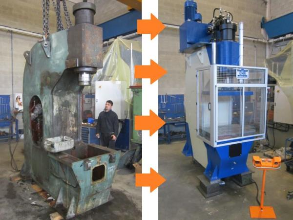 Hydraulic press servicing