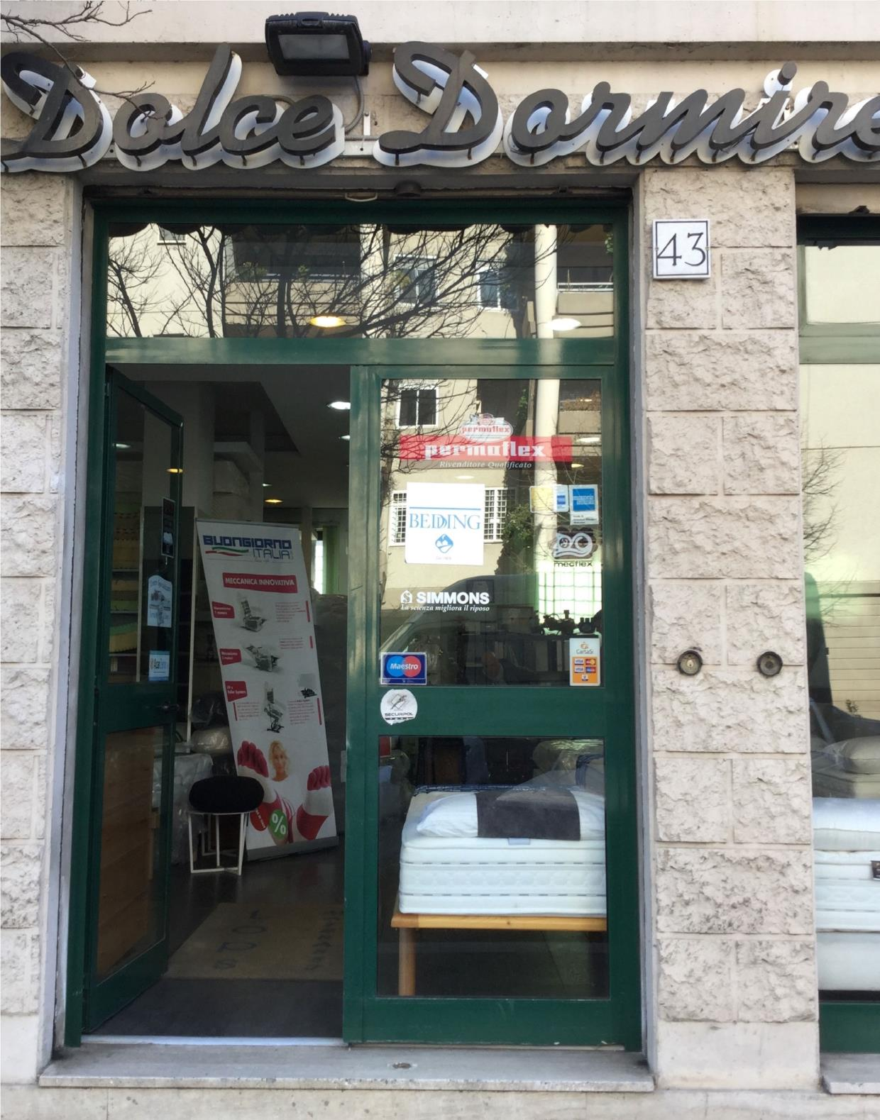 negozio materassi Roma Marconi