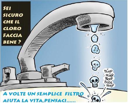 rischi cloro nell'acqua