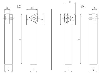 triangle lathe inserts