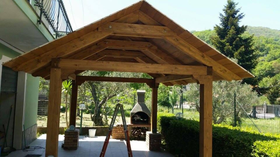 tettoia legno catanzaro
