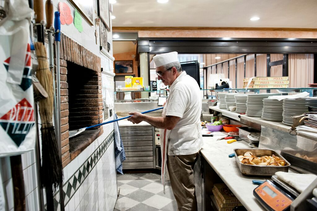 pizza fumante a Lucca