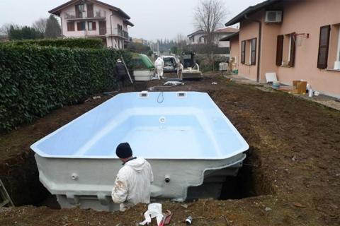 realizzazione piscina como