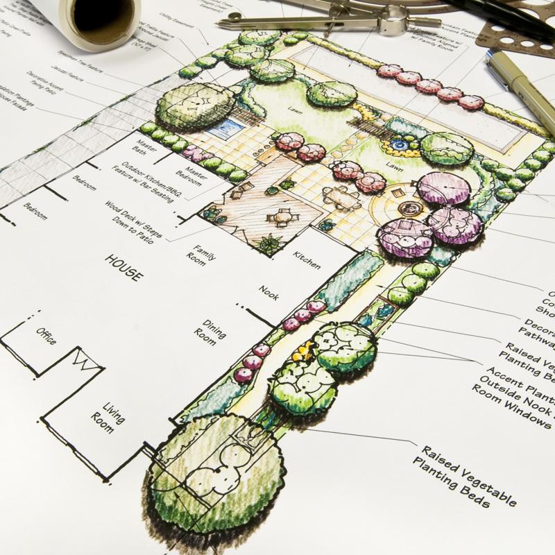 potatura piante in giardini ornamentali